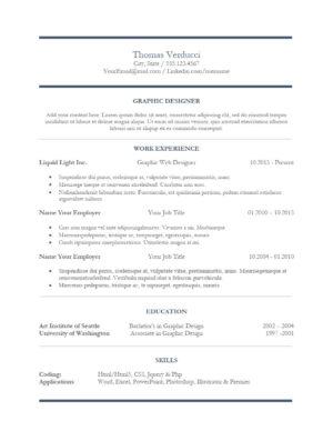 Central Design Resume Template