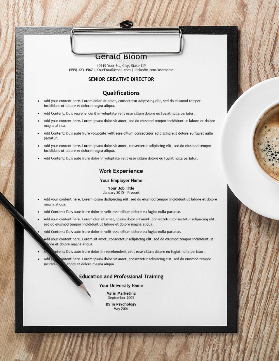 Pro Plus Resume with Coffee
