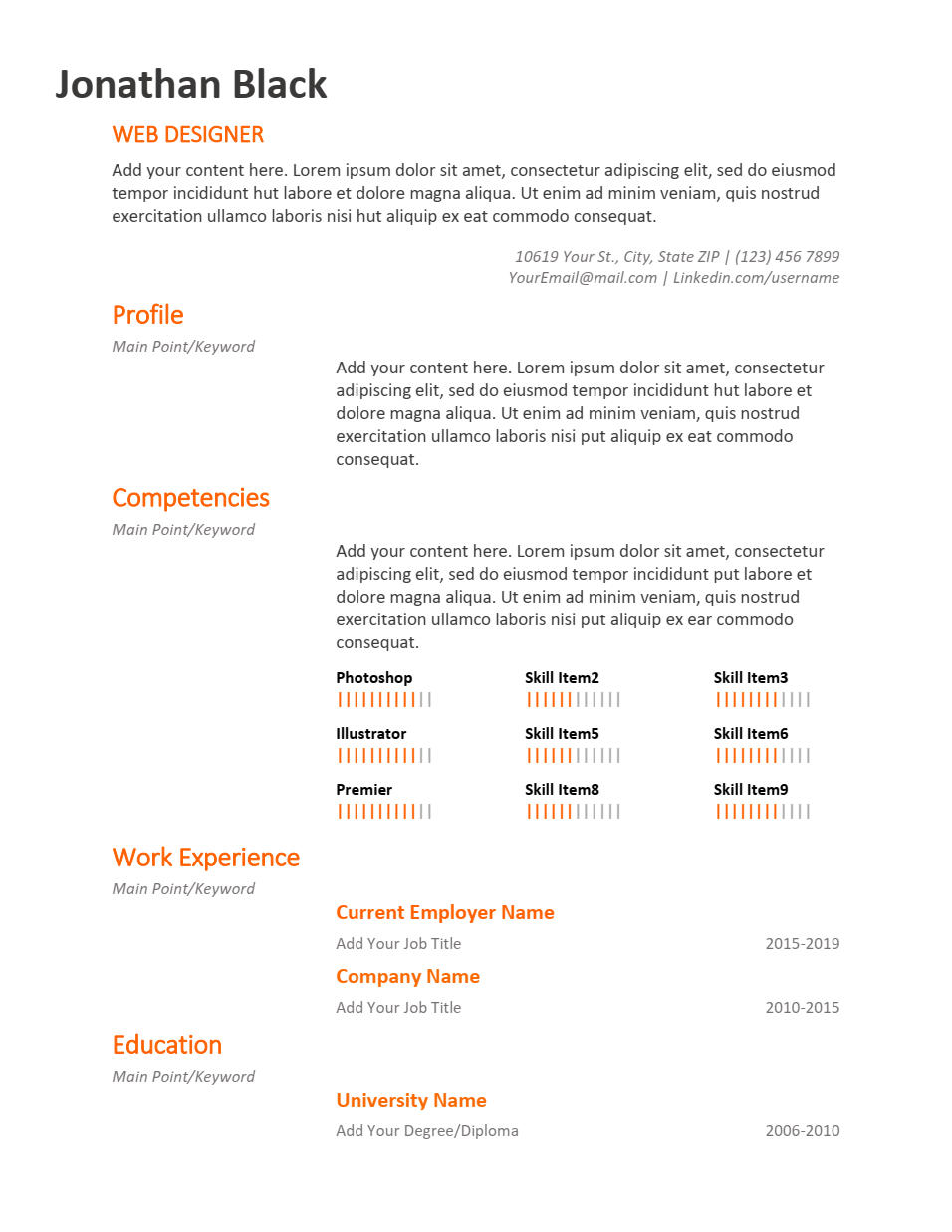 The Shift Resume Template