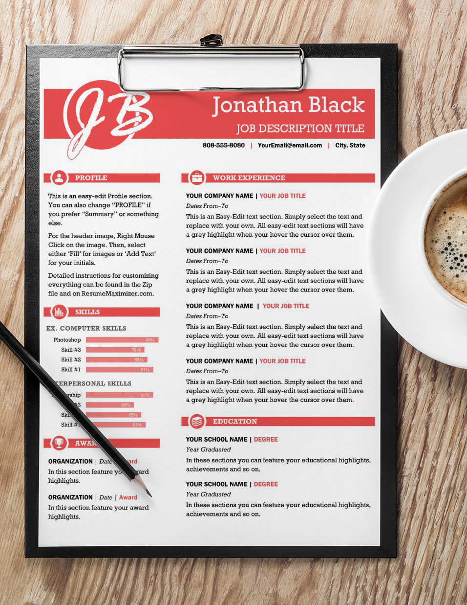Brilliantly - Resume with Coffee