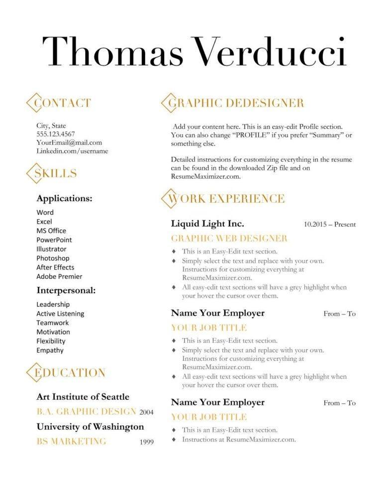 Diamond Resume Template Resume Maximizer