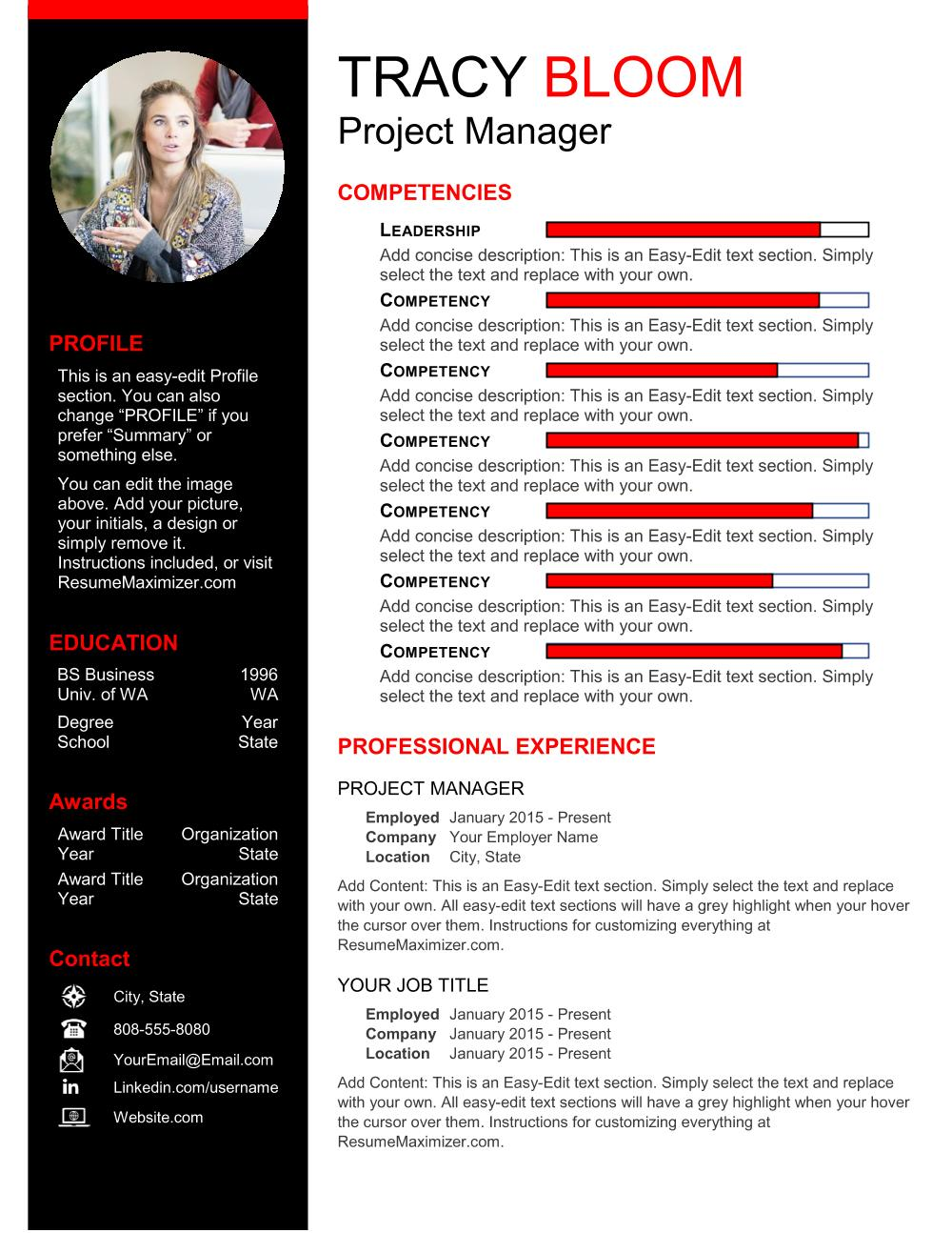 Dynamite Resume Template