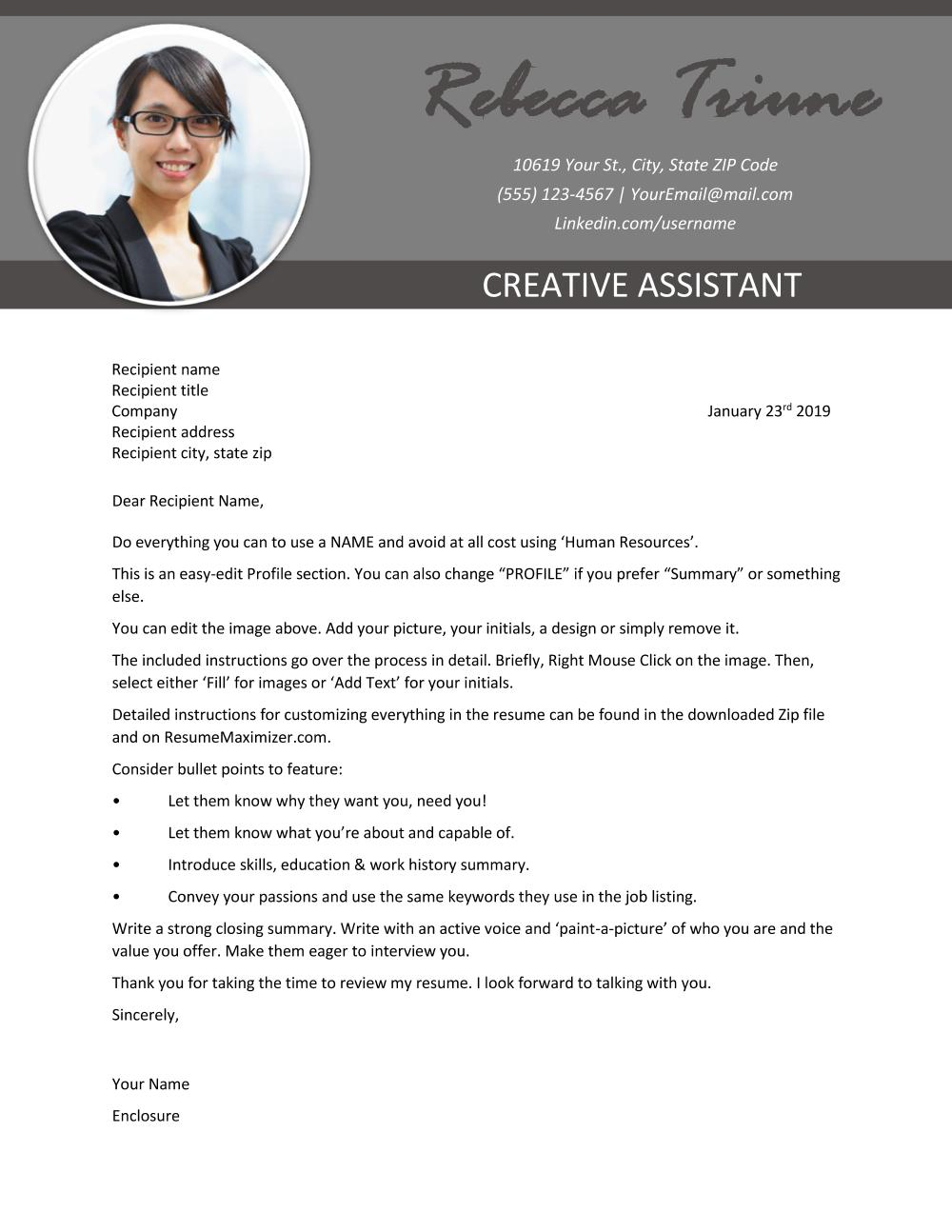 Leading Edge - Cover Letter