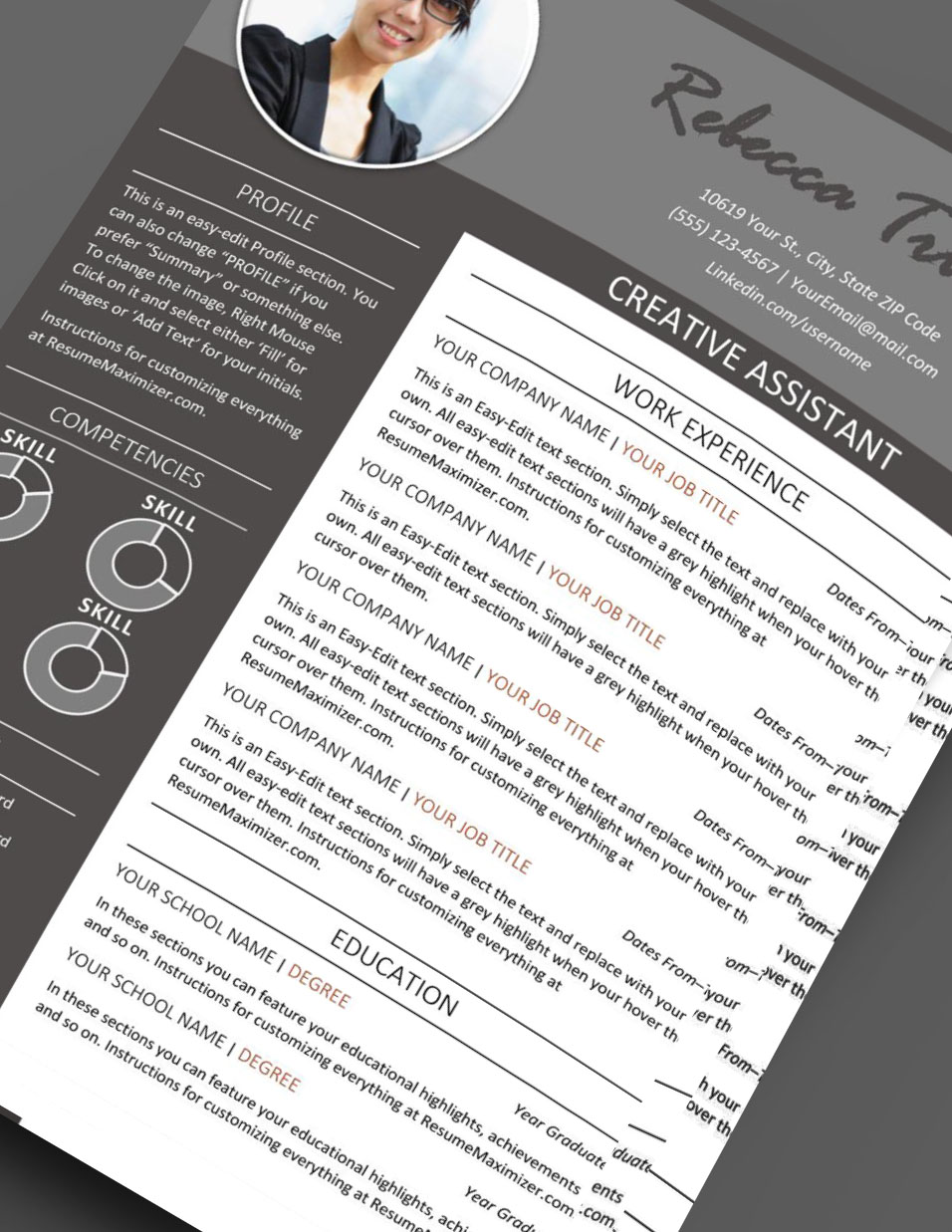 leading edge resume template