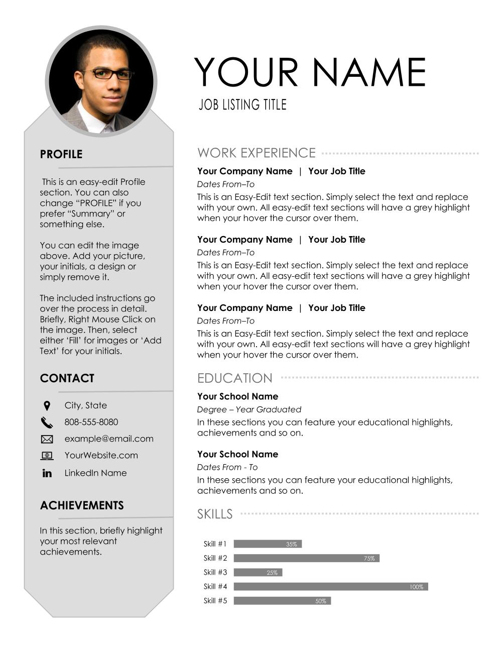 Refined Pro - Resume Template
