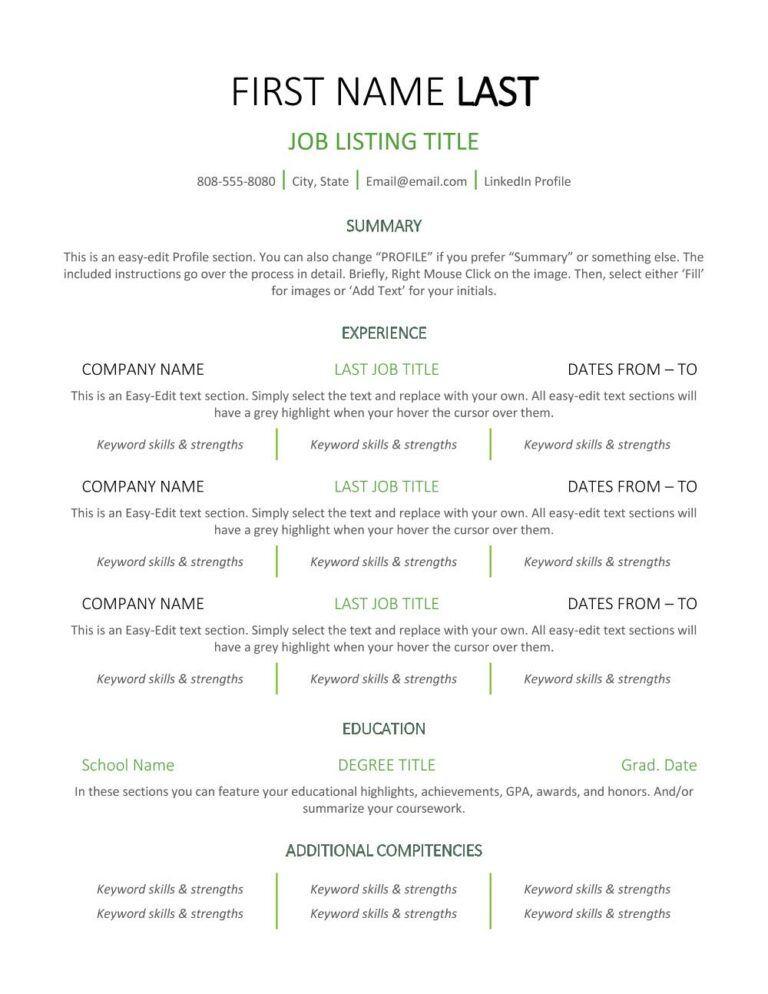 Center Line - Resume