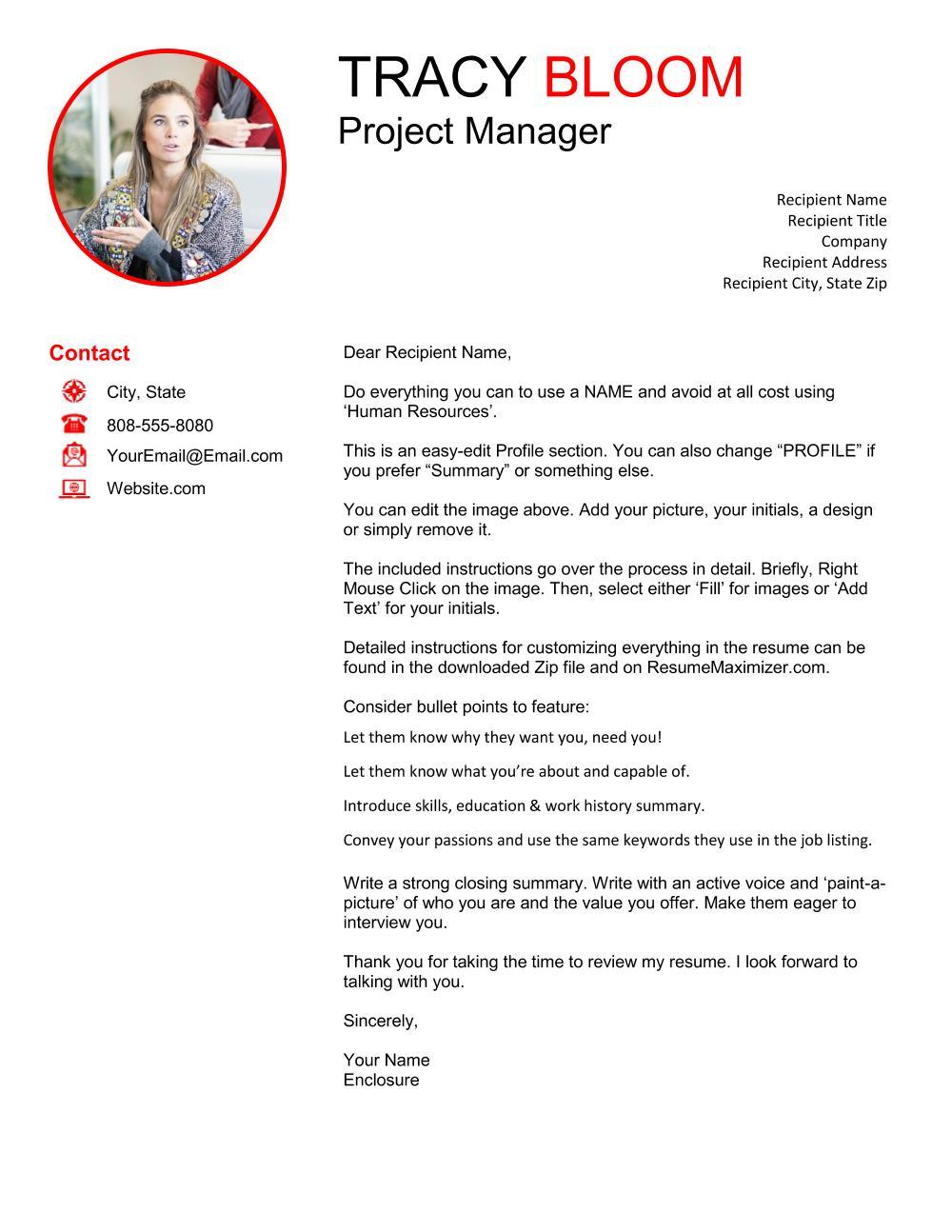 Revealed Pro - Cover Letter