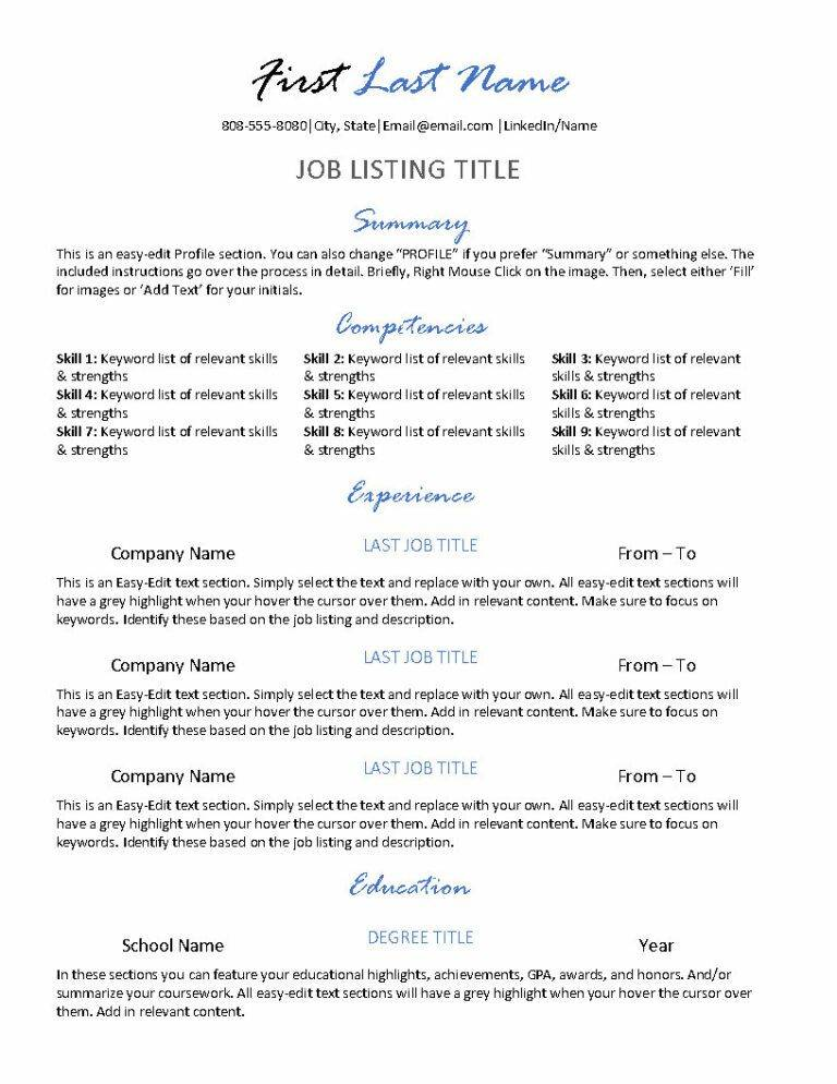Central Style - Resume