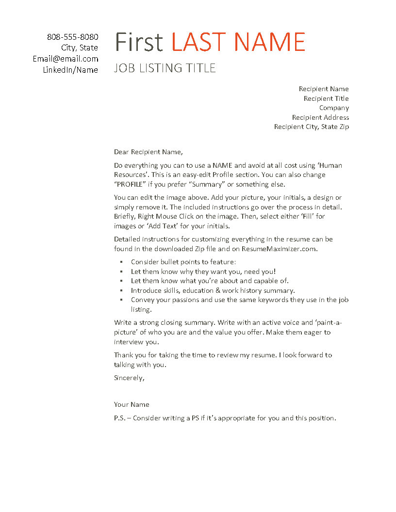 Clean Start - Cover Letter US