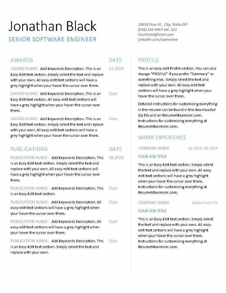 Excellence - Resume_Page1