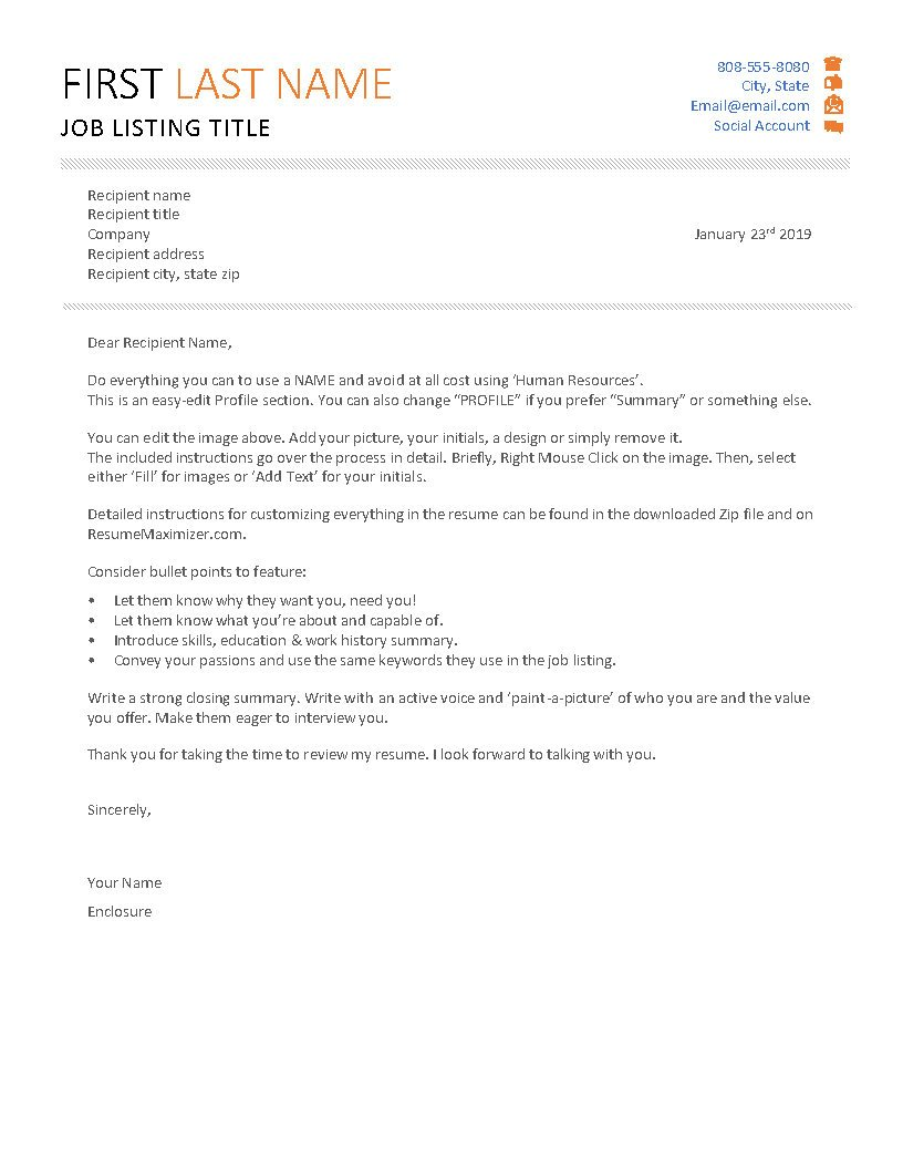 First & Last - Cover Letter
